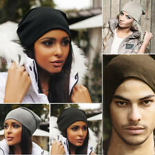 Winter Women Men Knit Ski Crochet Slouch Hat Cap Unisex Beanie Baggy Hip-Hop Hat