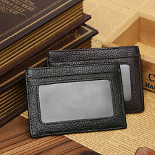 Men Faux Cowhide Leather Money Clip Wallet Credit Card ID Holder Pocket Charm