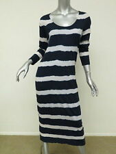 Christina Lehr Dress Tie Dye Aline Maxi Navy and White One Size New with Tags