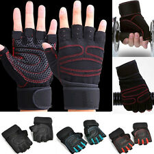 Sport Half Finger Weight lifting Gym Gloves Training Fitness Wrist Wrap Exercise