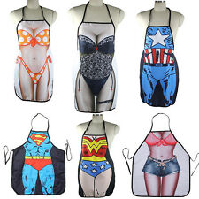 Novelty Apron Party Sexy Kitchen Cooking Home BBQ Woman Men Funny Gift FC