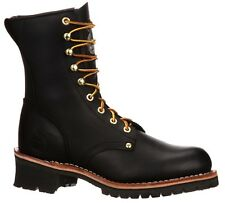 Georgia Men's Logger Steel Toe Lace Up Leather Work Boots Black G8320