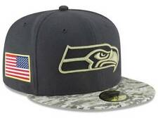 Official 2016 Seattle Seahawks New Era NFL Salute Service 59FIFTY Fitted Hat