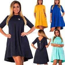 Women Trendy Stretch Zip Back Dress Cocktail Evening Party Mini Dress Plus Size