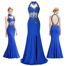 Halter Sexy Womens Long Maxi Evening Dress Formal Cocktail Prom Gown Bridesmaid
