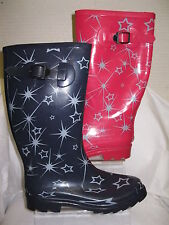 Ladies Unbranded Star Print Wellies Wellington Boots X1150