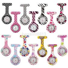 New Silicone Brooch Tunic Watch Fob Nursing Nurse Pendant Quartz Pocket Watch US