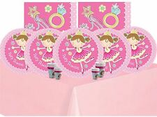 Princess Birthday Party Supplies Tableware Pink Girls Childrens Decorations