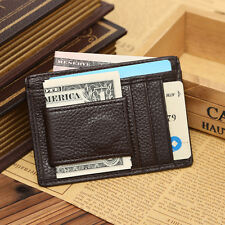 NEW Man Leather Wallets Money Clip Credit Card ID Holder Front Pocket Thin Slim