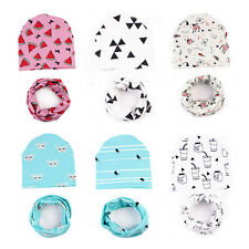 New Fashion Infant Kids Baby Boys Girls Soft Hat Cap+Bib Towel Head Scarf 1 Set