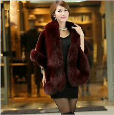 Noble imitation mink Bridal Wedding Faux Fur Long Shawl Stole Wrap Shrug Scarf