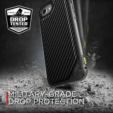 X-DORIA Carbon Fiber Drop Test Case Cover for Apple iPhone 7 Plus LUX Back Plate