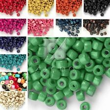 Approx 1200pcs 30g Wooden Wood Beads Donut Dyed Beads Jewelry Makings Crafts