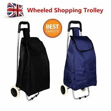 Folding Shopping Trolley Cart Bag Wheeled Rolling Utility Luggage Grocery