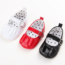 Cute Newborn Baby Infant Girls Bowknot Soft Sole Crib Shoes Princess 0-18 M #QGV