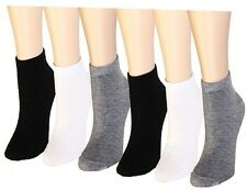 6-24 Pairs Women's Ankle Socks Cotton Girls Low Cut Stretch Assorted Ladies Pack