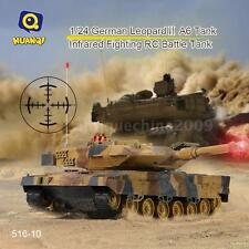 HUAN QI 516-10 1/18 Scale Infrared Fighting RC Battle Tank w/ Sound+Lights E4Y4