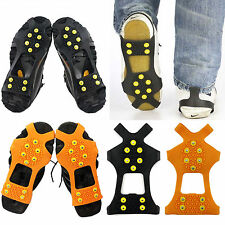 AntiSlip Ice Snow Men Shoes Spike Grip Crampons Grippers Rock Climbing Costume