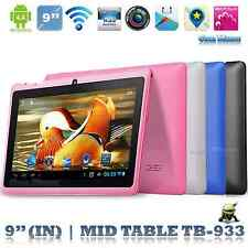 "5 colors 9"" Android A33 Allwinner Quad Core 522 8GB Pad Bluetooth Tablet PC UK"
