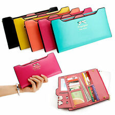 Women Girls Clutch Fashion Bifold Envelope Wallet Long Card Holder Purse Handbag