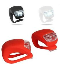 Bike Bicycle Cycling Silicone Flexible Front Rear Clip LED FlashLight Cycle Lamp