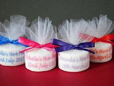 Personalised Tealight Candle Hen Party Favours With Satin Ribbon Set Of 10