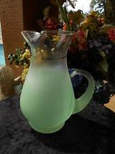 vintage mid century retro BLENDO GLASS PITCHER green 9 cup or 72 oz