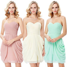 Women's Sexy Chiffon Bridesmaid Gown Cocktail Evening Prom Party Short Dress New