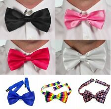 Satin Bow Strap On Tie Wedding Mens Great For Fancy Dress Adult 12 Designs
