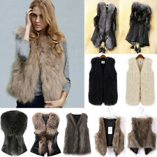 Fashion Womens Faux Fur Sleeveless Vest Waistcoat Jacket Gilet Warm Coat Outwear