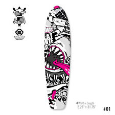 Skin Decal For Longboard Type 3 Tuning Mapping Sticker Customize Shark Dog