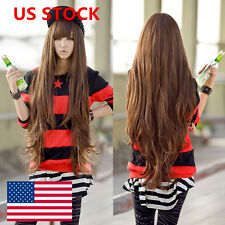 New Women Long Curly Wavy Hair Full Wigs Cosplay Party Anime Custume Girls Wig