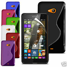 S Line Wave Gel Skin Case Cover & Screen Protector For Various Mobile Phones