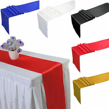 NEW Back Cover Satin Table Runners 30X250CM Wedding Banquet Decoration
