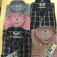 Ex M&S  PURE COTTON Mens CHECK& GINGHAM CHECKED  Button Down Smart Casual SHIRTS