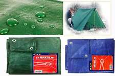 NEW HEAVY DUTY GREEN TARPAULIN SHEETS WATERPROOF GROUND COVER SHEET CAMPING TENT