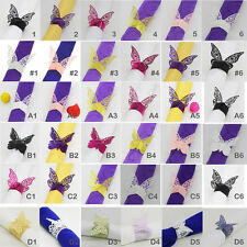 50pcs Butterfly Napkin Ring Serviette Buckles Wedding Banquet Catering Tableware