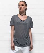 ONE TEASPOON SOHO WOOL BLEND TEE SHIRT XXS XS S GRAY BASIC TOP NWT LAST ONES