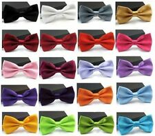 Men Satin Solid Color Adjustable Bowtie Tuxedo Classic Wedding Bow Tie Necktie
