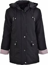 LADIES MBC THICK PADDED WARM HOODED WINTER COAT JACKET SIZE 12-24