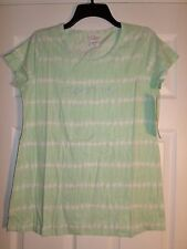 "Motherhood Maternity Top/Shirt Green/White Tye-Dye ""EXPECTING"" Size Medium  L@@K"