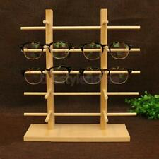 Natural Wood Display Rack Sunglass Eye Glasses Stand Organizer 3/4/5/6 Layers