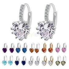 Stud Earings Rhinestone Crystal Heart Drop Dangle Earrings Fashion Accessories