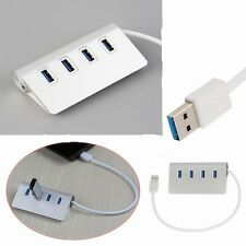 4Port USB 3 Hub 5Gbps High Super Speed Spliter Adapter with Cable for Mac lot CC