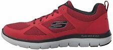 Skechers Flex Sole Advantage 2.0 Trainers Lo Top Sneakers Size 8 in Red Black