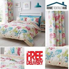 Catherine Lansfield Stab Stitch Floral Quilt / Duvet Cover Bedding