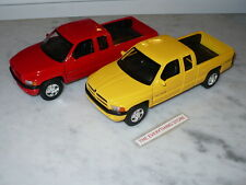 WELLY 2002 DODGE RAM 1500 SPORT TRUCK 1:24 YELLOW OR RED YOU CHOOSE FREE SHIP