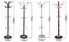 173cm Coat Stand Hat Umbrella Storage Rail Rack Hanger Wood Metal Marble Base