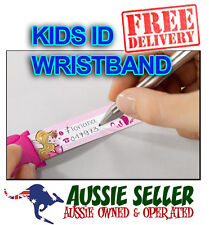 Sigel KIDS SAFETY ID WRISTBAND - 8 Designs to choose from! REUSABLE - FREE POST