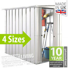 NEW 5x4 6x4 8x4 10x4 FT GALVANISED METAL PENT LEAN-TO GARDEN STEEL SHED